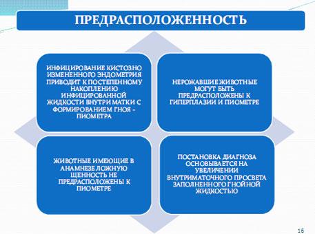Слайд 15. Предрасположенность к развитию пиометры